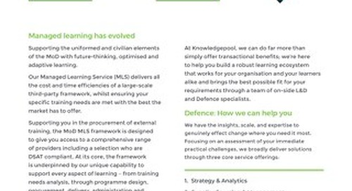 Managed Learning for Defence - Overview
