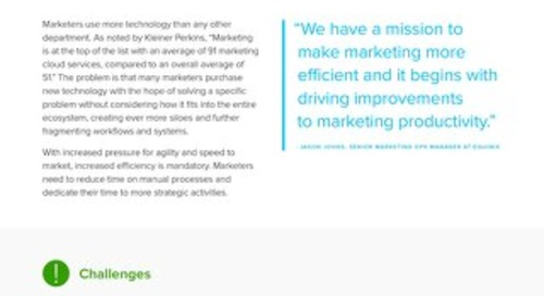 Efficient Marketing Workflow