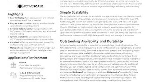 Data Sheet: ActiveScale P100