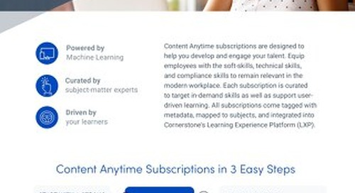 Cornerstone Content Anytime - Overview