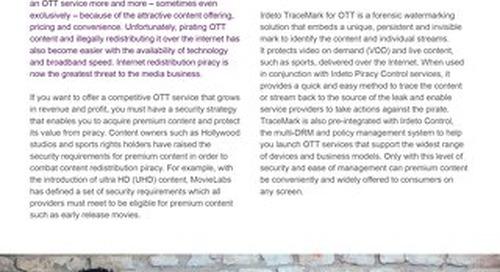 Datasheet: Irdeto TraceMark™ for OTT