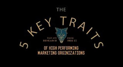 5 Key Traits of High Performing Marketing Organizations