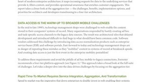 The engagement platform's aggregation Tier