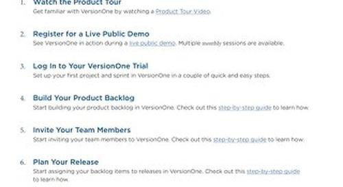 VersionOne Enterprise Edition Trial Guide