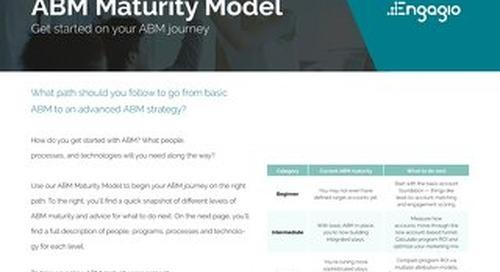 The ABM Maturity Model  |  Engagio