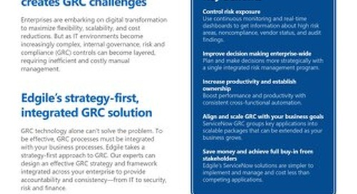 GRC Overview - Build your program with Edgile's proven methodology
