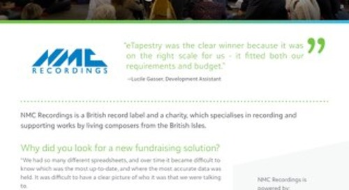 NMC Recordings | Customer Spotlight