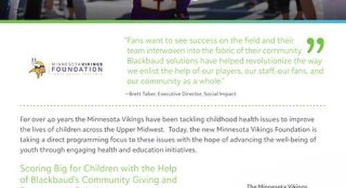 CUSTOMER STORY: Minnesota Vikings Foundation