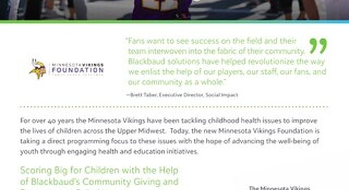 CUSTOMER STORY: Minnesota Vikings Foundation