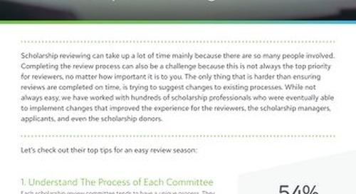 Ten Tips for Revolutionising Scholarship Reviewing