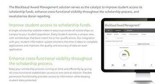 Award Management Datasheet