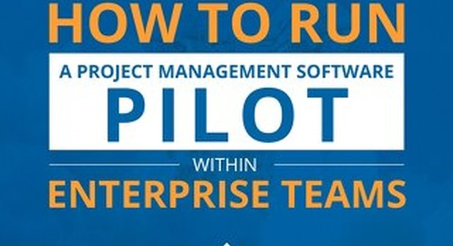 How to run a project management software pilot within enterprise teams