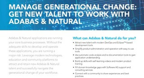 Get new talent to work with Adabas & Natural