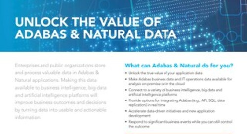 Connect Adabas & Natural with analytics platforms