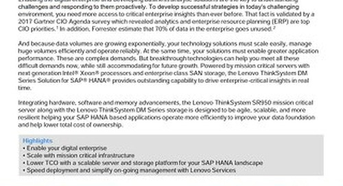 Lenovo ThinkSystem DM Series Solution for SAP HANA