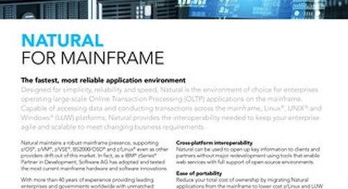 Facts about Natural for Mainframe