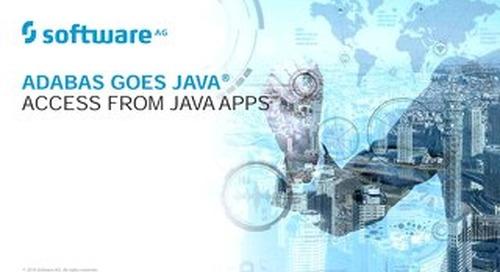 Adabas Goes Java®