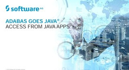 Adabas Goes Java®
