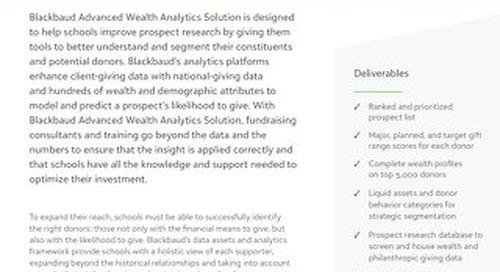 Blackbaud Advanced Wealth Analytics Solution