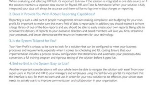 HR Tech Evaluation Checklist for Non-Profits