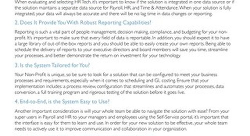 HR Tech Evaluation Checklist for the Construction Industry