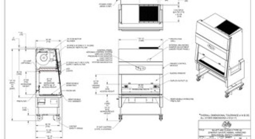 [Drawing] LabGard NU-677-400 Animal Handling Biosafety Cabinet