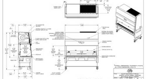 [Drawing] LabGard NU-677-600 Animal Handling Biosafety Cabinet