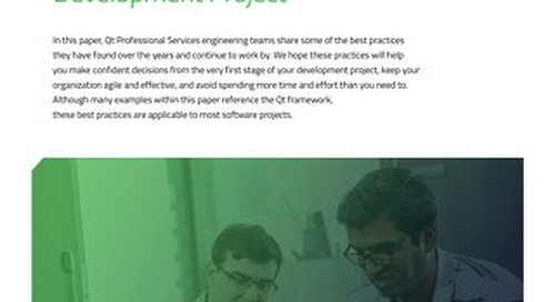 White paper: Best Practices for a Successful Development Project
