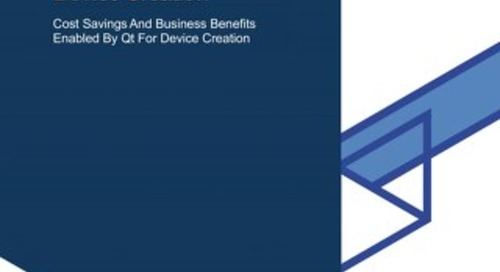 White paper: Forrester Study | The Total Economic Impact™ of Qt for Device Creation