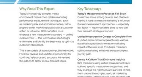 Forrester Report: Customer-Obsessed Marketing Demands Unified Measurement