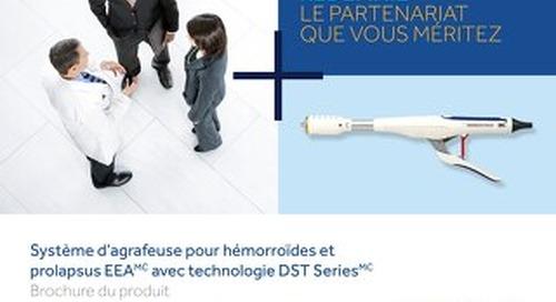 Système d'agrafeuse pour hémorroïdes et prolapsus EEA avec technologie DST Series