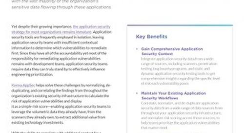 Kenna Application Risk Module Data Sheet