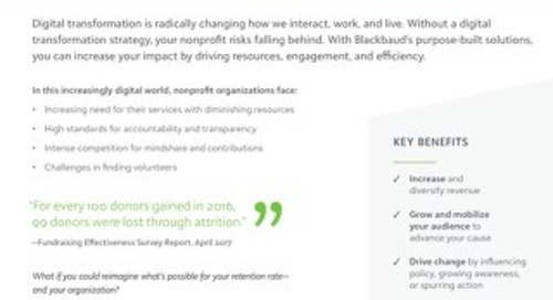 Datasheet: Discover the Cloud Solution for Nonprofits