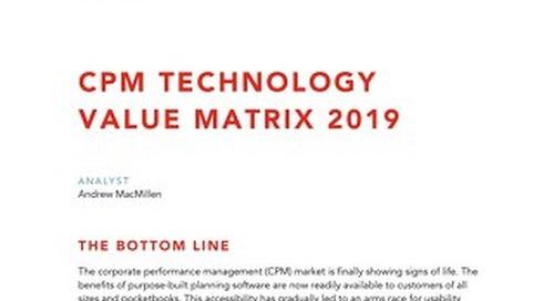 Nucleus Research: 2019 CPM Technology Value Matrix Report