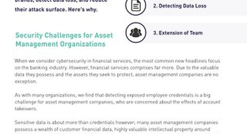 Digital Shadows for Asset and Wealth Management