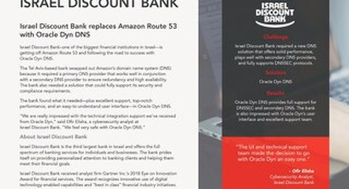 Case Study: Israel Discount Bank