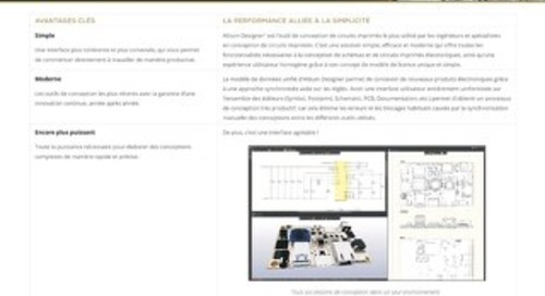 Fiche technique collatéral d'Altium Designer 19