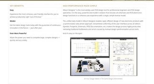 Altium Designer 19 Product Datasheet