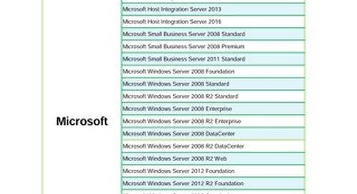Enterprise Server Software Support