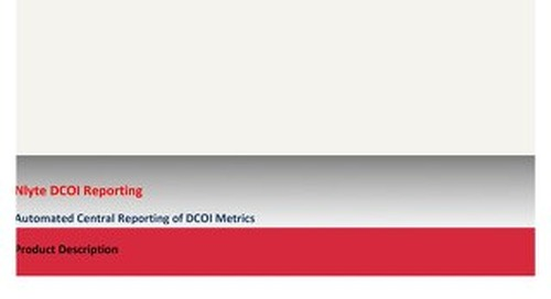 DCOI - Automated Central DCOI Metric Reporting