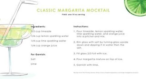 Mocktail Margarita Recipe Cards