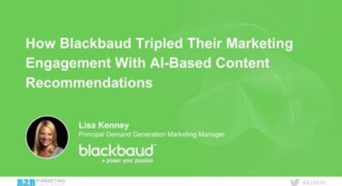 How Blackbaud Tripled Their Marketing Engagement With AI-Based Content Recommendations