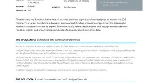 Fundbox: Accelerating Data-Driven Credit Analysis with Snowflake