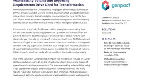 Genpact Reduces Cyber Risk with Data Science Approach