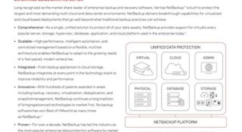 Learn More About Veritas NetBackup™ 8.1
