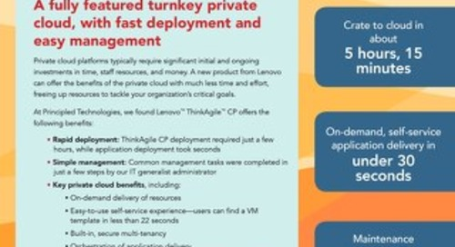 Lenovo ThinkAgile CP Series: Turnkey private cloud with fast deployment and easy management