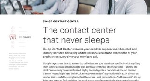 Contact Center Overview Slipsheet