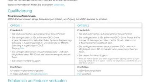 Cisco Umbrella für MSSPs
