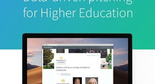 Pitch Perfect: Data-Driven Pitching for Higher Education