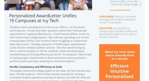 Personalized AwardLetter Unifies 19 Campuses at Ivy Tech
